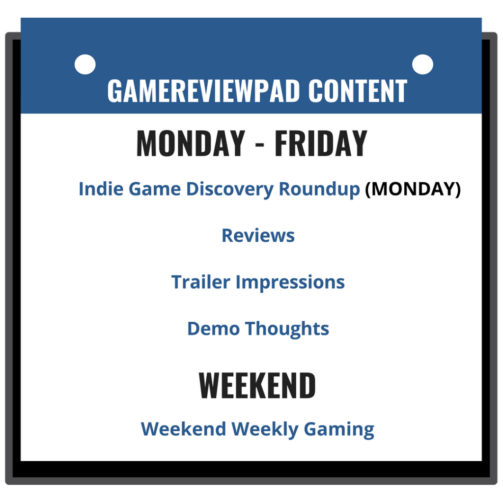 GameReviewPad Calendar Site Blue