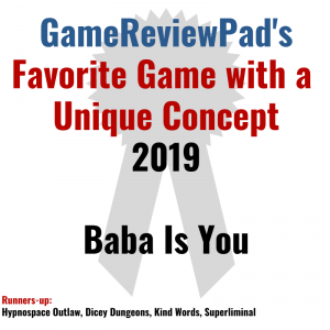 Favorite Game with a Unique Concept 2019: Baba Is You